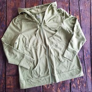 Lane Bryant Sage green zip front hoodie jacket